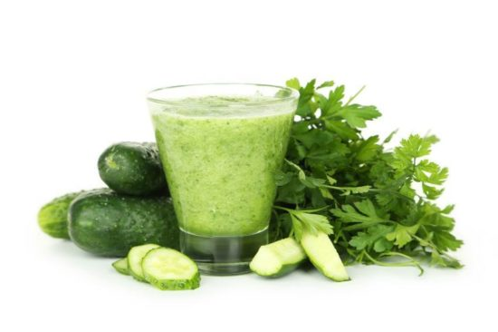 Apply cucumber juice to exfoliate and soothe dark neck