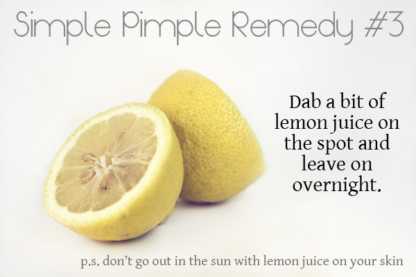 Lemon for pimple swelling