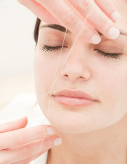 Threading to remove upper lip hair is cheap and effective