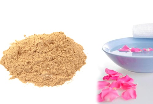 Multani Mitti and Rose water for Pimples and Fairness